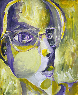 Cubist painting self portrait