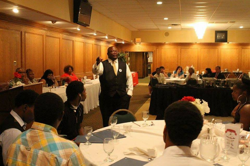 Dr. Bell Speaking To Youth