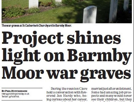 Bomber Command Researcher shines light on Barmby Moor War Graves