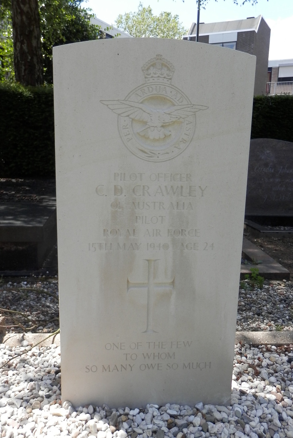 War Grave of Charles Douglas Crawley at Oosterhout