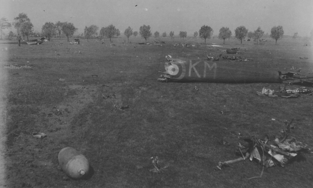 The crash of 44 Squadron Hampden 1940 Oosterhout