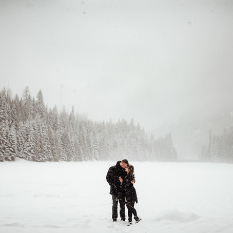 Cottonwood Lake + Broken Hill Winter Engagement Session // Nelson, BC