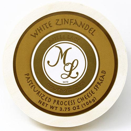 #ML43201 3.75oz Mille Lacs White Zinfandel Wine Cheese Spread Hoop 48/case $2.45