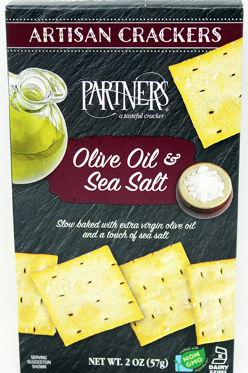 #8408 2oz Olive Oil and Sea Salt Cracker Maroon Box 12/case $1.90@