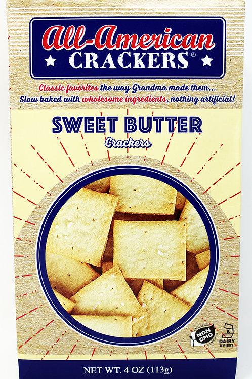 a#8403 - NEW 4oz Sweet Butter all American Cracker only $1.89@ case 6