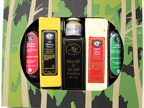 #ML7190 Mille Lacs Camo Cheese and Sausage Gift 12/case $14.99 each