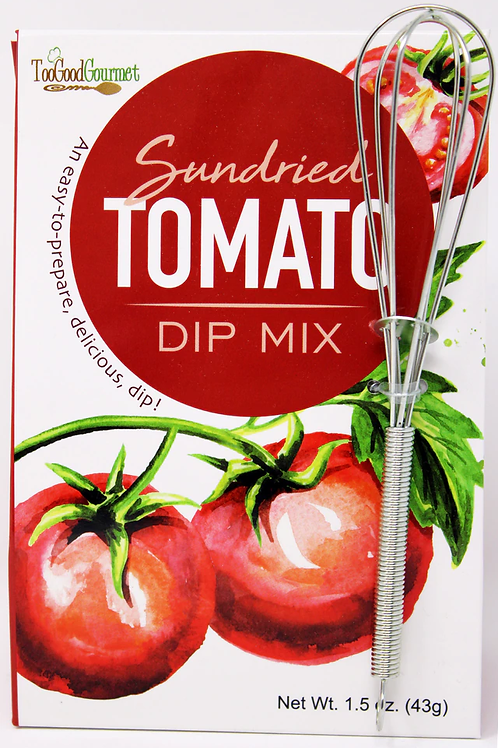 #3202 Sun Dried Tomato Dip Mix with Metal Whisk 1.5oz $2.85@ case 6