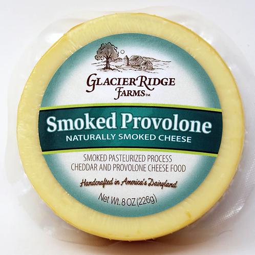 Glacier Ridge 8oz Naturally Smoked Provolone Cheese 12/case $3.50 each, $42.00/C