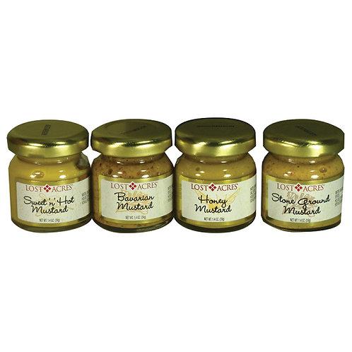#8000 1.4oz Mustard Assortment 24 jar case asst. $.94@