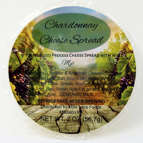 #ML43230C - NEW Chardonnay Wine Cheese Spread cups $1@ cs 24