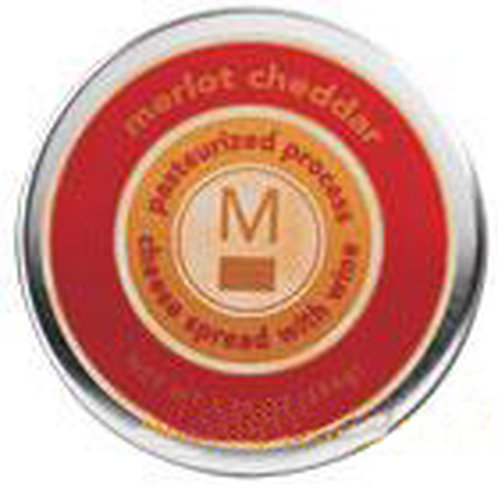 #ML43120 3.75oz Merlot Cheddar Cheese Tin 24/case $2.30 each $55.20/Case