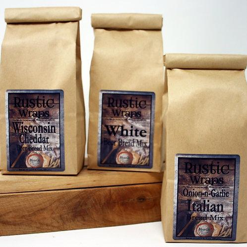 #WC5003 Rustic Wraps Bread Mix Assortment 2 of @ flavor 6/Case $25.50/Case