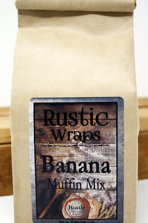 #WC5004 Rustic Wraps Banana Muffin Mix $3.99@ case 6