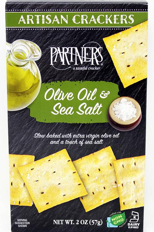 #8407 2oz Olive Oil and Sea Salt Green Cracker 12/case $1.90 each