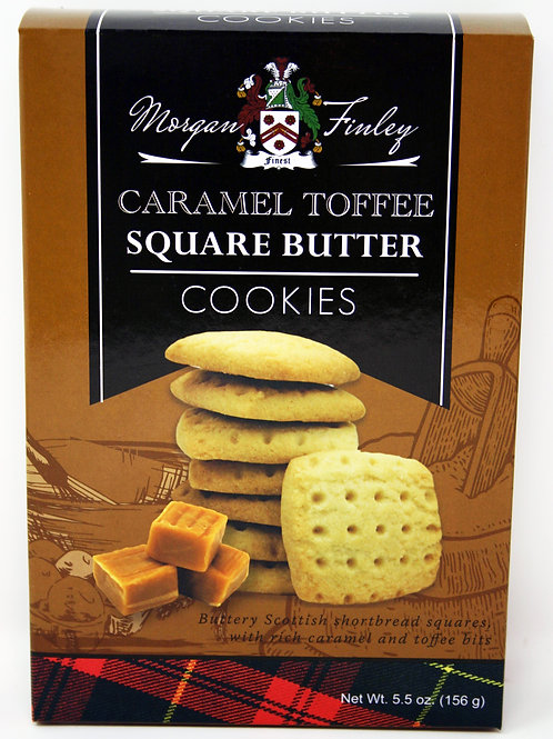 #8708 5.5oz Morgan Finley Caramel Toffee Cookies 12/Case $3.00