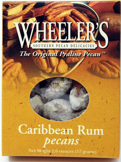 """NEW"" #2610 2oz Caribbean Rum Pecans 18 cs $3.25@"