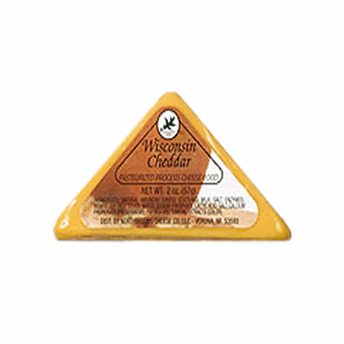 1038 2oz. Wisconsin Cheddar Cheese Triangle Shelf Stable Cheese