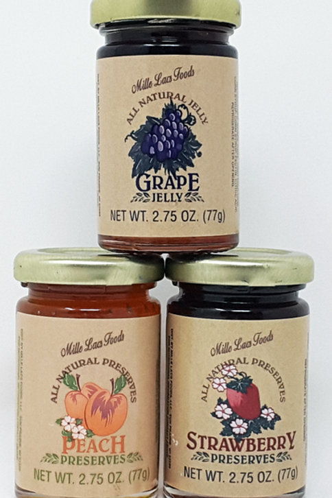 #ML42547 2.75oz Jam and Jelly Trio  48/cs $1.30 each $62.40/cs.