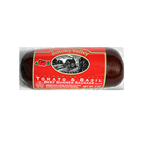 #5085 - 5 oz. Smoky Valley Tomato Basil All Beef Summer Sausage $2.65@ case 24