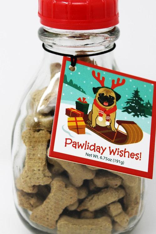 #PF001 6.75oz Pawlida Wishes Dog Treats in Milk Bottle 6/case $6.10 @