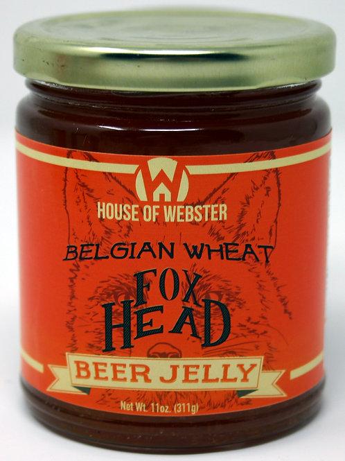 #8001D - 11oz Fox Head Belgian Wheat Orange Craft Beer Jelly $6.25@ case 6