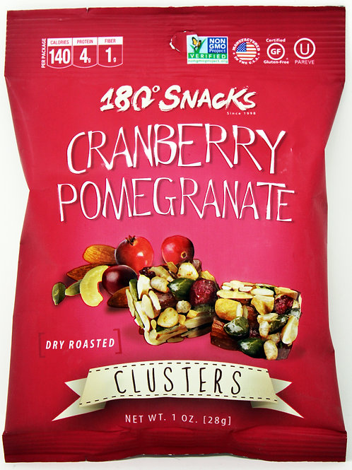 #6161 1oz Cranberry Pomegranate Clusters 180 Snacks 24/cs Gluten Free, Kosher