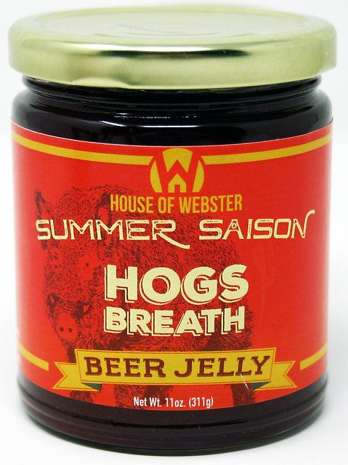 #8001F - 11oz Hogs Breath Saison Raspberry Craft Beer Jelly $6.25@ case 6
