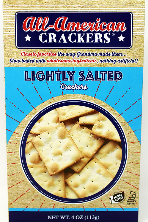 #8405 NEW 4oz Lightly Salted All American Cracker $1.87@ case 6