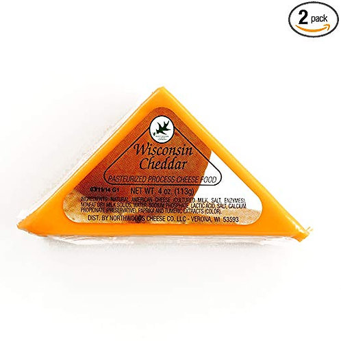 #1040 4oz Wisconsin Cheddar Cheese Triangle $1.78@ case 36