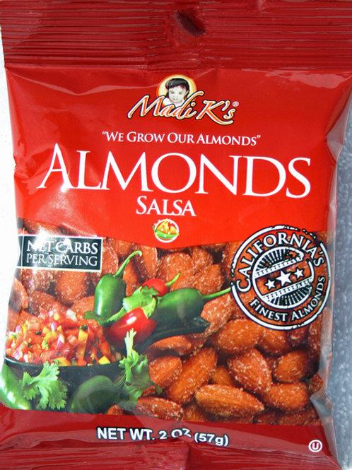 #8193 2oz Madi K Spicy Salsa Almonds Red Bag 12/case $1.68 each $20.16/Case