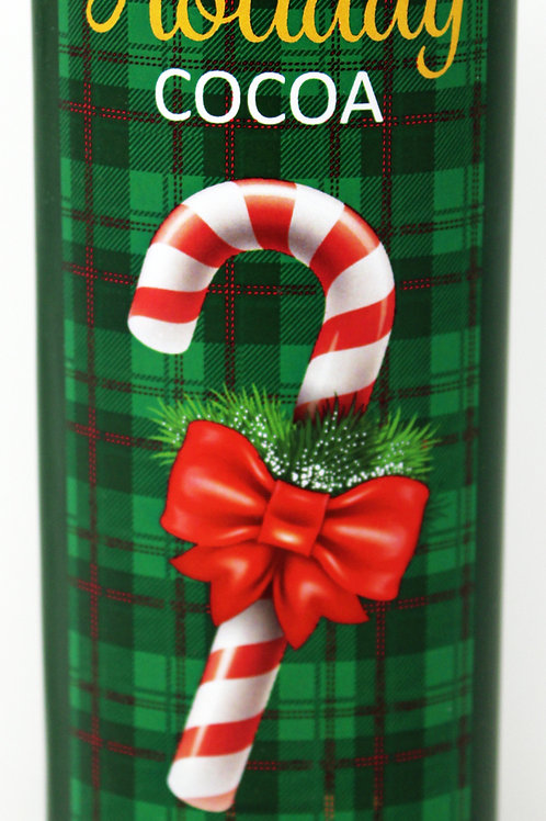 #2537 5.5oz Salted Caramel Green Plaid Cocoa Holiday Design