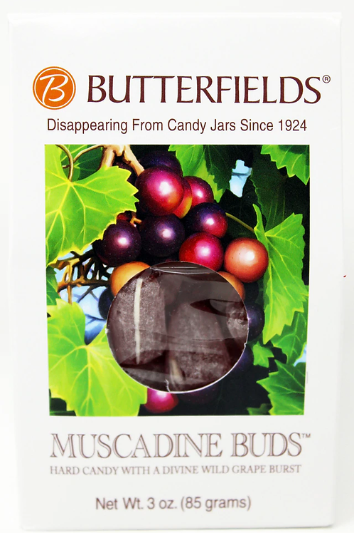 #BF013 3oz Muscadine Buds Butterfields 12/case $2.25 each $27.00/Case