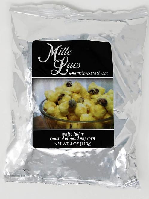 #ML40104 4oz White Fudge Popcorn with Roasted Almonds 12/cs $1.90