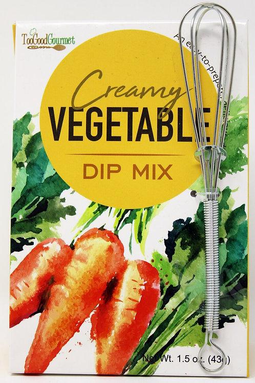 #3203 1.5 OZ  Creamy Vegetable DIP MIX + Whisk $2.85@ case 6 = $17.10
