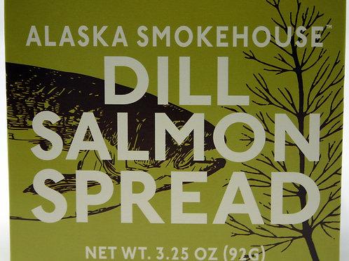 #6018 3.25oz Dill Salmon Spread Alaska Smokehouse 12/case $4.15 each $49.80/Case