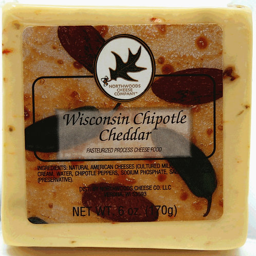 #1112 6oz Wisconsin Chipotle Cheddar Cheese Square $2.19@  case 48
