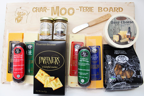 MOO400 Rustic Wraps Heart of Wisconsin Large Char-MOO-Terie Gift set 2/CS