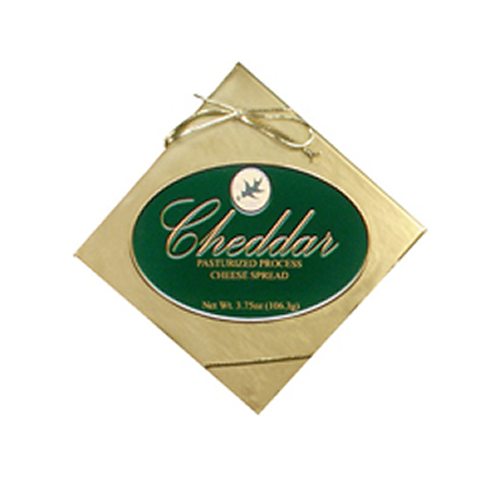 1069G 3.75oz. Northwoods Cheese Premier Cheddar Cheese Spread Box Green label