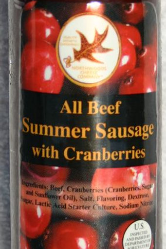 #5039 - 7oz Cranberry All Beef Summer Sausage $3.75@ 12/case