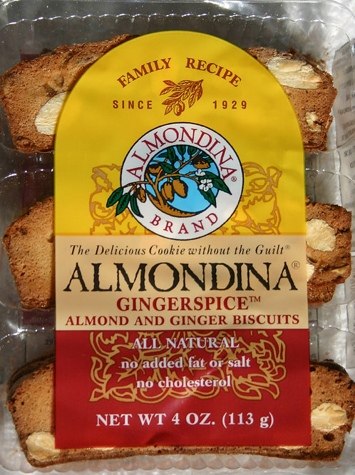 #8502 4oz Almondina Ginger Spice Almond Biscuit $3.25@ case 12