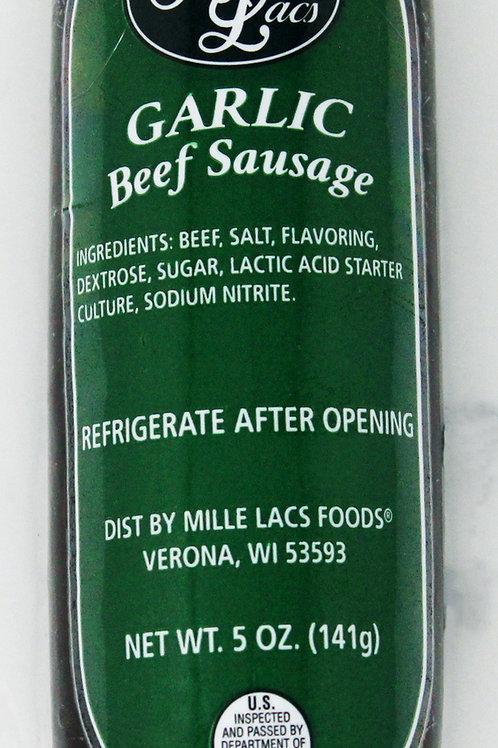 ML43292 5oz Mille Lacs Garlic Beef Summer Sausage/Green Label 16/case $2.65 each