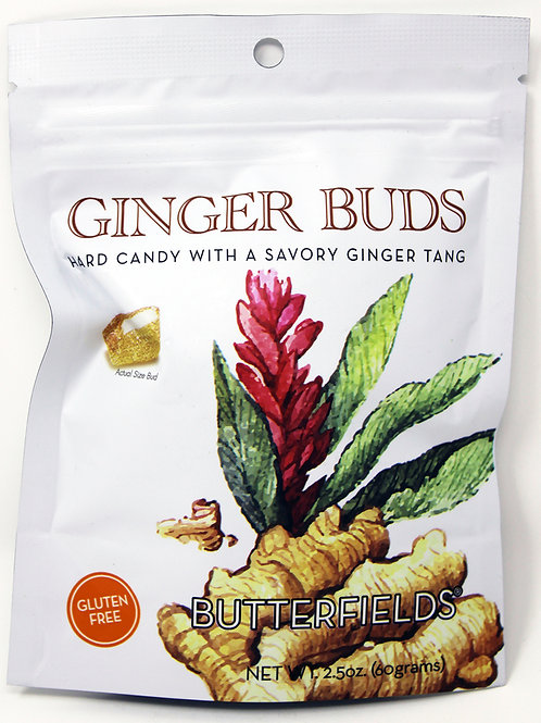 #BF008 2.5oz Butterfields Ginger Buds 24/Case $1.99 each