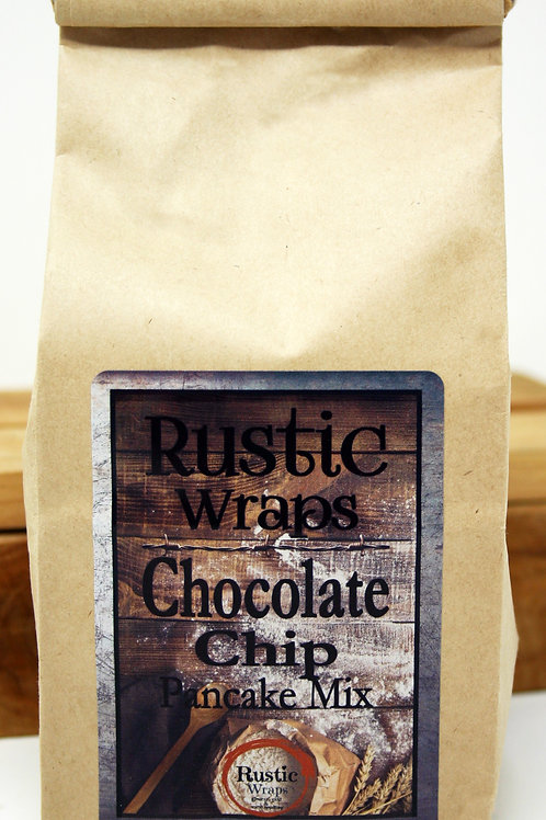 #WC5013 Rustic Wraps Chocolate Chip Pancake Mix 6 case $3.99@