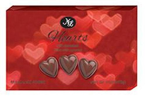 #ML48216 7oz Milk Chocolate Caramel Filled Hearts 24/Case $2.50 each