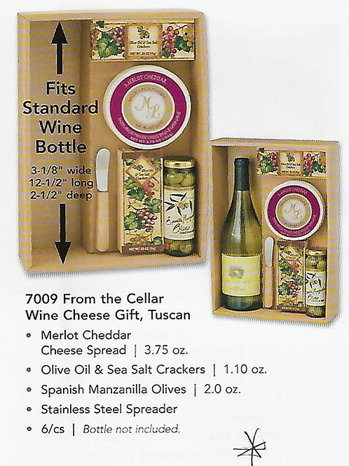 ML7009 Mille Lacs From The Cellar Wine and Cheese Gift ,TUSCAN 6/case $11.65@