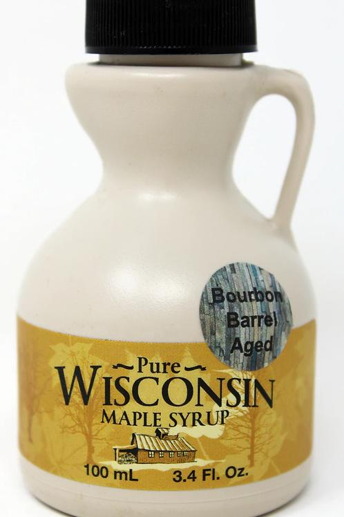 #NWMF001 Northwoods Maple Farm 3.4oz Bourbon Maple Syrup 12/case