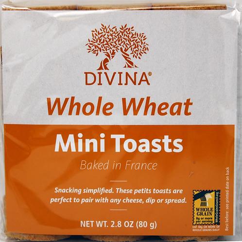 8118 2.8oz Divina Whole Wheat Mini Toasts 24/case $1.57 each $37.68/Case