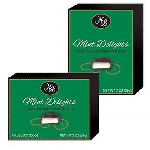 #48587 2oz Dark Chocolate with Mint Center 24/case $1.00 each, $24.00/Case