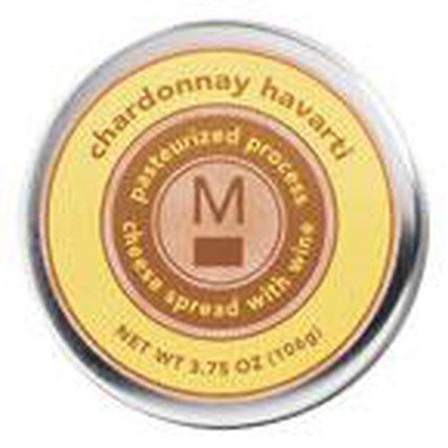 #ML43149 3.75oz Chardonnay Havarti Cheese Tin 24/case $2.45 each $58.80/Case