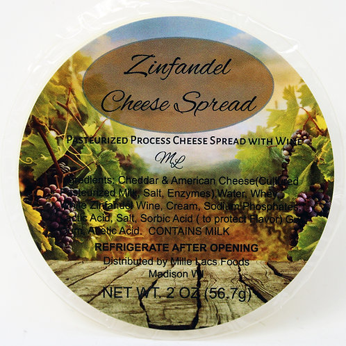 #ML43230B 2oz Mille Lacs Zinfandel Wine Cheese Cup 24/case $1 each $24/case